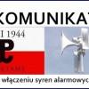 71. rocznica wybuchu Powstania Warszawskiego – w Pile zawyją syreny