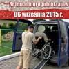 Samochód do przewożenia osób niepełnosprawnych chcących wziąć udział w referendum