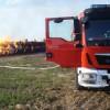 Pożar sterty balotów w Stróżewicach