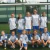 Zwycięskie dziewczęta w Turnieju Piłki Nożnej o Puchar Premiera RP