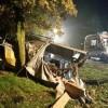 Wypadek dwóch samochodów ciężarowych na drodze krajowej nr 10