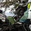 Czołowe zderzenie na DK10 w Kosztowie