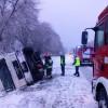 Wypadek samochodu ciężarowego na K-11 w Kierzkowicach