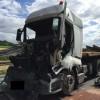 Wypadek dwóch ciężarówek w Kosztowie
