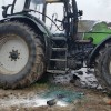 Pożar ciągnika rolniczego w Kosztowie
