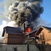 Pożar budynku mieszkalnego w Pile
