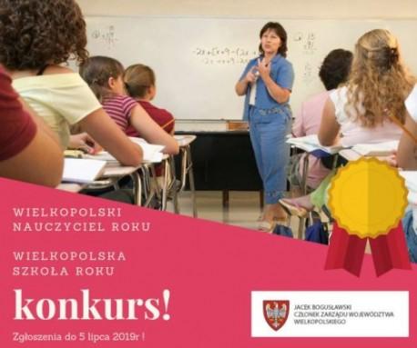 Konkurs Wielkopolska Szkoła Roku i Wielkopolski Nauczyciel Roku