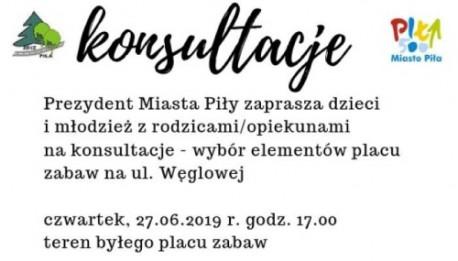Konsultacje – plac zabaw na Węglowej w Pile