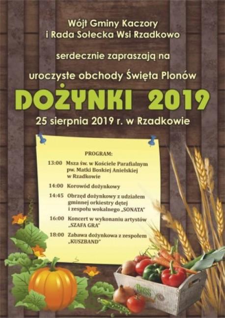 Gmina Kaczory zaprasza na Dozynki do Rzadkowa