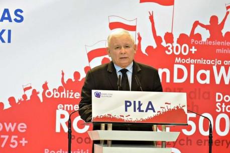 Jarosław Kaczyński odwiedził Piłę, a cysterny wstydu PO-PSL dojechały do Piły
