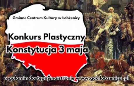 """Łobżenica. Konkurs plastyczny """"Konstytucja 3 Maja"""""""