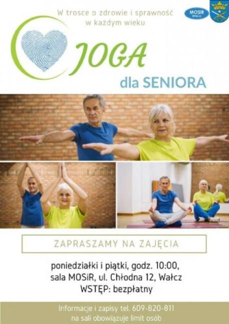 Wałcz. Bezpłatna joga dla Seniora
