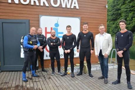 WOŚP. Podwodna wyprawa na Płotkach od prezydenta Piły